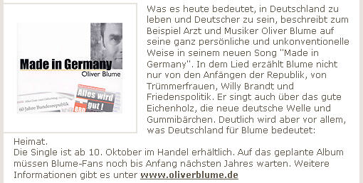 Made in Germany Pressetext